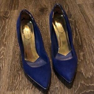 Ted Baker Royal Blue Velvet Heels